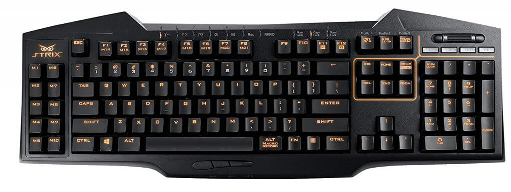 teclado gaming asus strix tactic pro